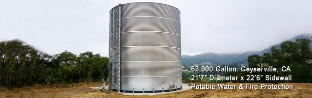Corrugated Water Tanks, Corrugated Steel Water Tanks