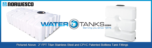 Specialty Water Tanks, Low Profile Water Tank, Doorway Tank