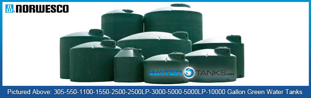 Norwesco Green Fresh Water Polyethylene Tanks